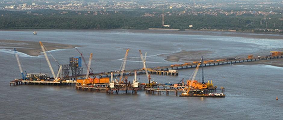 Implantação das obras civis do Píer IV - Porto de Itaqui